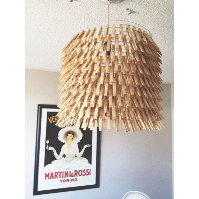 Cool idea for a lampshade and cheap