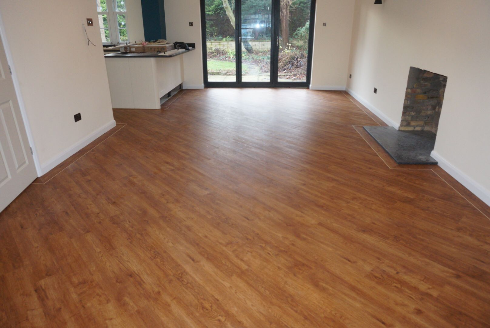 Polyflor lvt design vinyl tile flooring wood plank camaro circle polyflor lvt design vinyl tile flooring wood plank camaro circle feature mitre boarder ideas fitted by dailygadgetfo Image collections