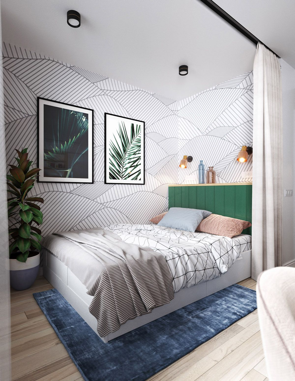 Help Designing A Room: 51 Green Bedrooms With Tips And Accessories To Help You