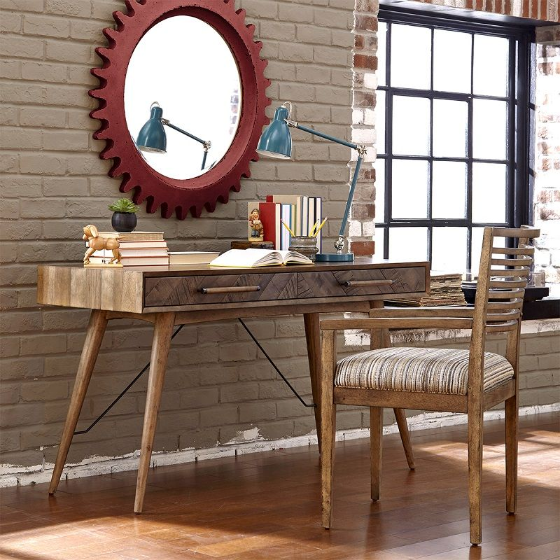 A nice saturday morning read on a reclaimed modern desk