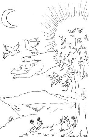 genesis chapter 1 coloring pages - photo#9