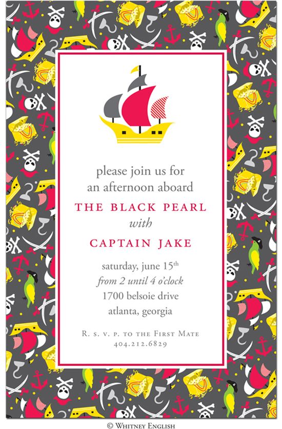 Pirate party invitation by whitney english letter press pirate party invitation by whitney english stopboris Choice Image