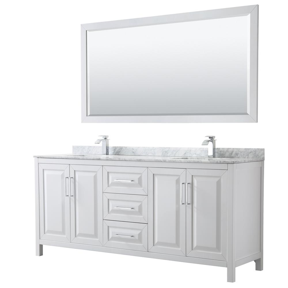Wyndham Collection Daria 80 In Double Bathroom Vanity In White