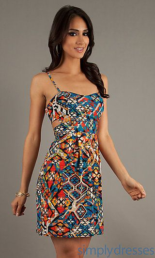 aaa532088bab Spaghetti Strap Print Short Dress at SimplyDresses.com fun Bahama cruise  dress