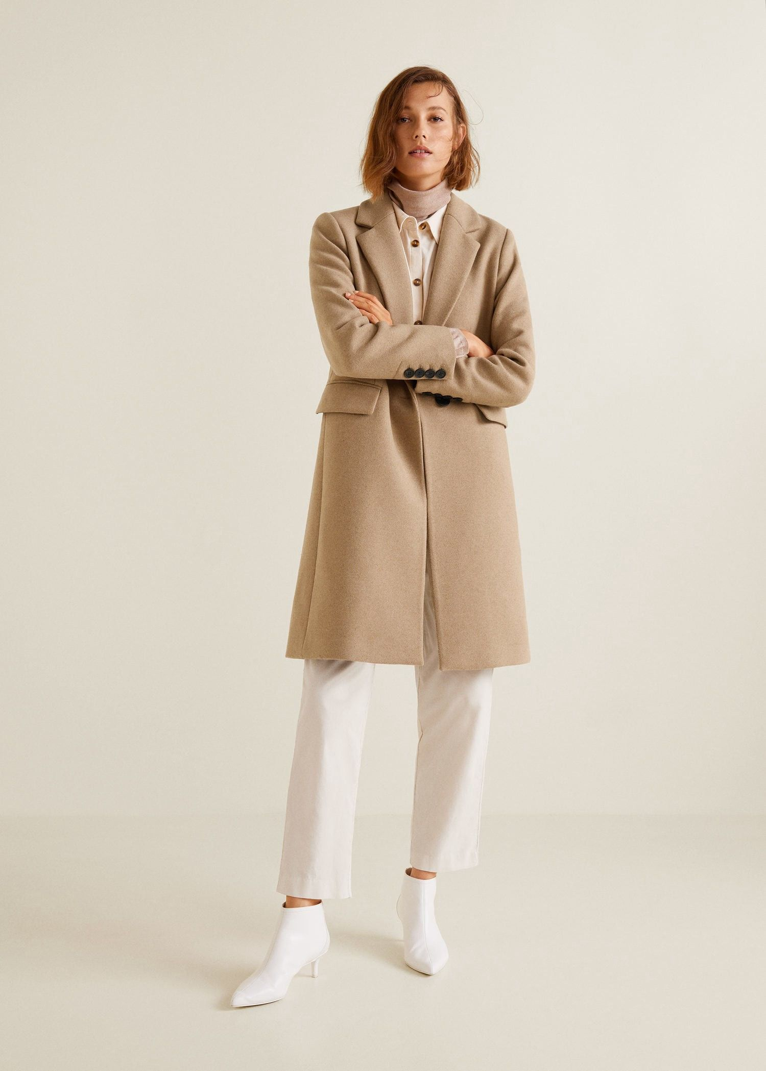 Structured wool coat by Mango in 2018   Products   Pinterest   Coat ... fcf26dd698fb