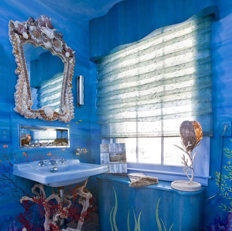 Under The Ideas Under The Sea Bathroom Decor With Unique Sink Image Id 41478 Giesendesign Sea Bathroom Sea Bathroom Decor Sea Theme Bathroom
