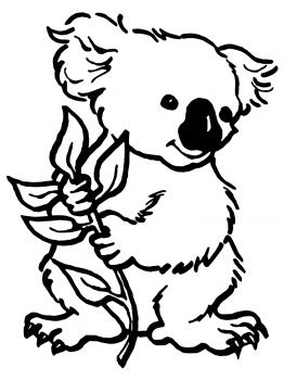 Mindfulness Coloring Page Koala Animal Coloring Pages Bear