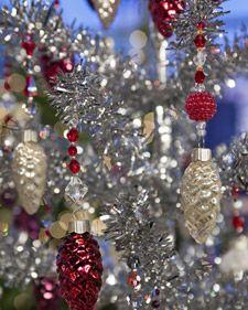 Upcycle hanging Christmas ornaments.