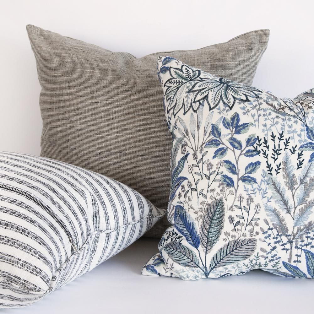 Home Decor Pillows From Tonic Living Blue And White Pillows Spring Throw Pillows Throw Pillows Living Room