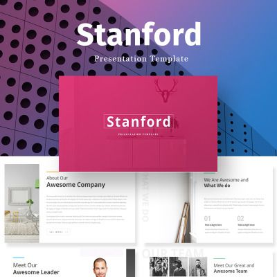 stanford creative presentation powerpoint template ビン