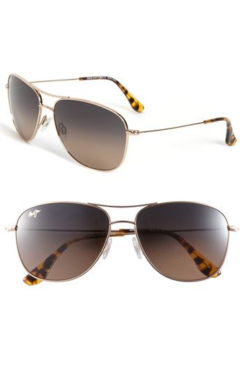 2918b09a52aed0 Maui Jim  Cliff House - PolarizedPlus®  59mm Metal Aviator Sunglasses  available at  Nordstrom