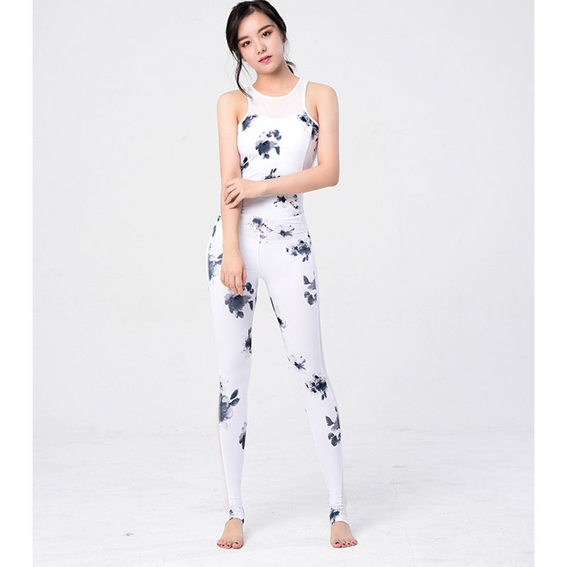 32ebccf9073 Women One Piece Tracksuits Yoga Sets.The jumpsuits is print floral ...