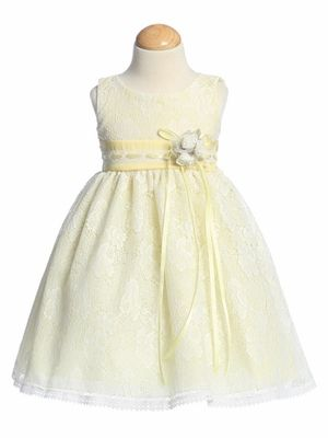 f6052744ab2  43 Yellow Flower Girl Dresses - All Over Laced Dress