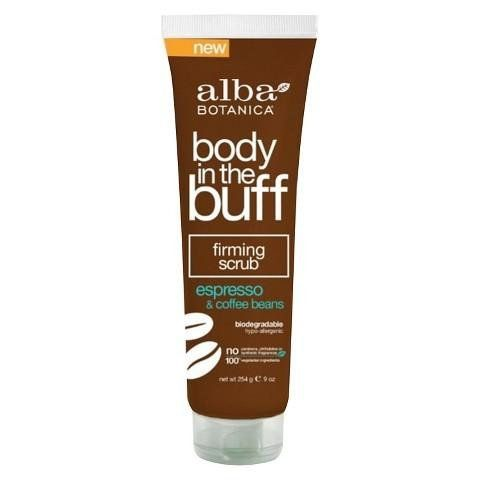 Alba Body in the Buff Espresso Firming Scrub gently lathers and buffs away rough, dull, dry skin by using natural cleansing and exfoliating ingredients to deliv