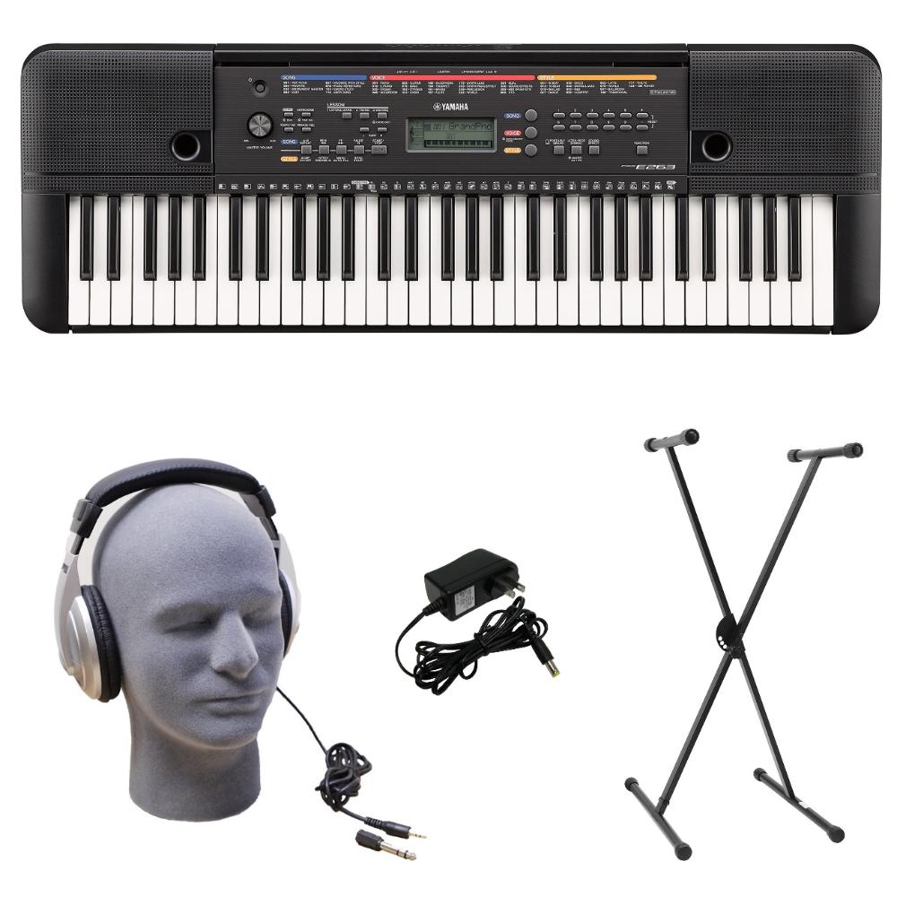 Yamaha PSRE263 PKS 61Key Premium Keyboard Pack with
