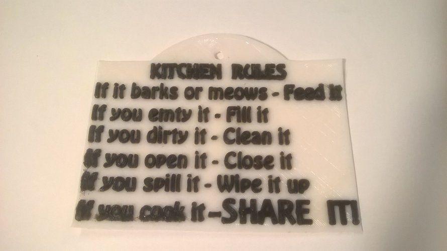 Kitchen Rules sign @ Pinshape #kitchenrules