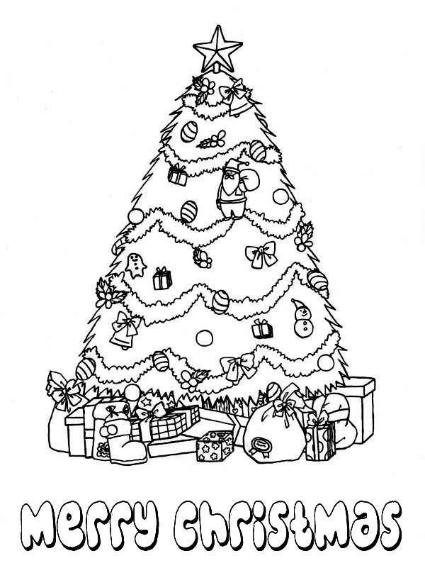 Christmas Tree Coloring Pages Christmas Gift Coloring Pages Christmas Tree Coloring Page Christmas Coloring Pages