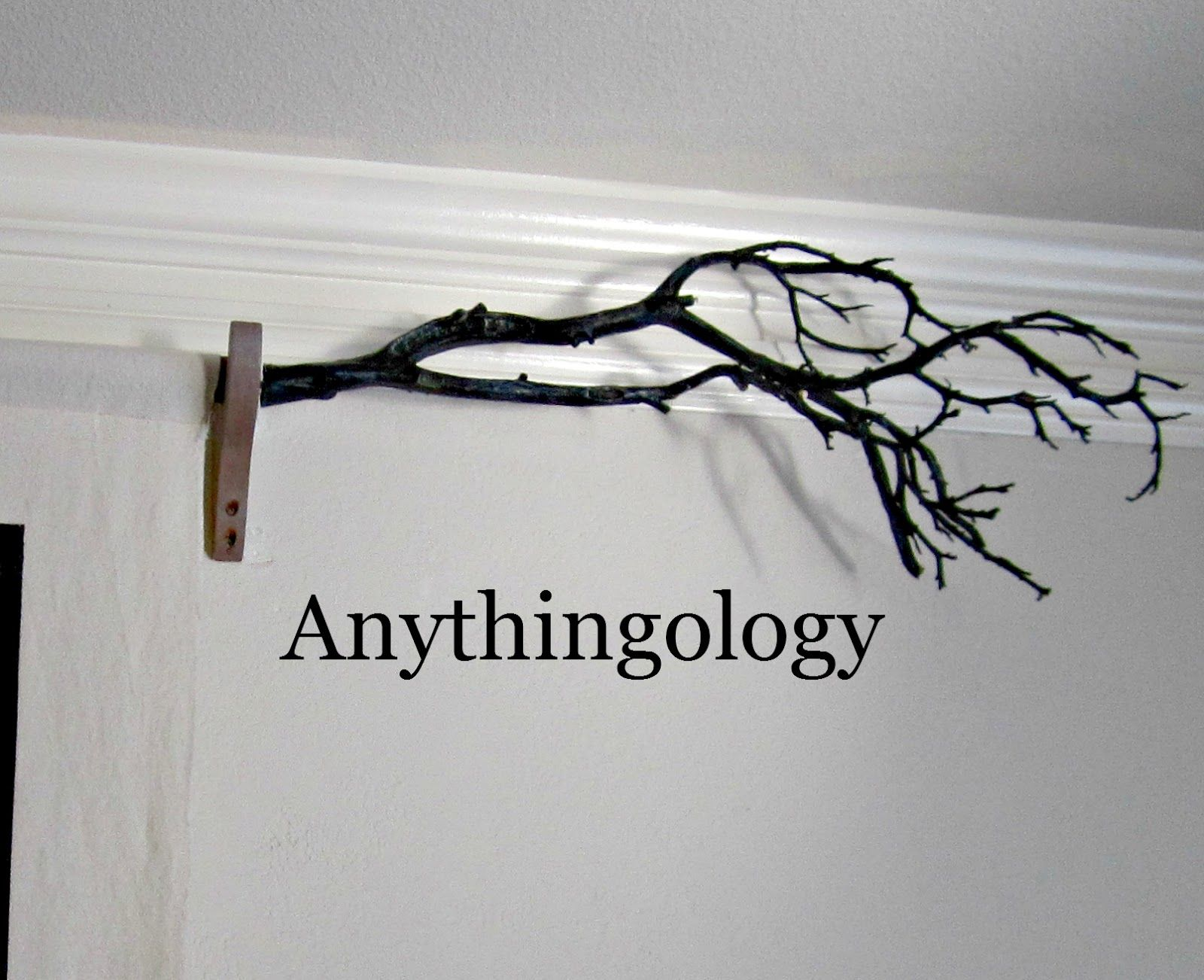 Tree Branch As Curtain Rod Finials Just Add A Double Ended Screw Finials For Curtain Rods Curtain Rods Branch Curtain Rods