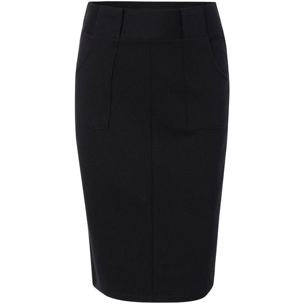 Skinny High Waist Slit Solid Color Women's Skirt ❤ liked on Polyvore featuring skirts