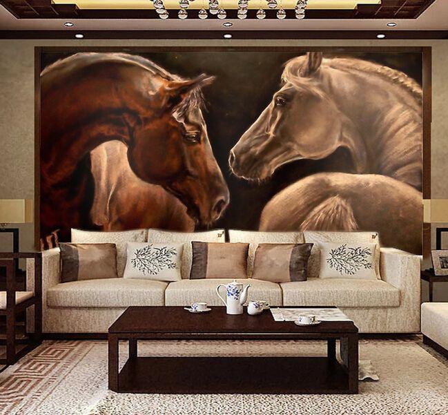 Fondos de escritorio de encargo del caballo 3d caballo for Como pintar un mural exterior