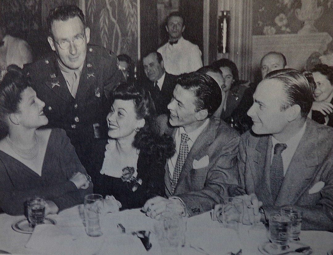 L To R Vocalist Jo Stafford T D Mgr Bobby Burns Vocalist Connie Haines Vocalist Frank
