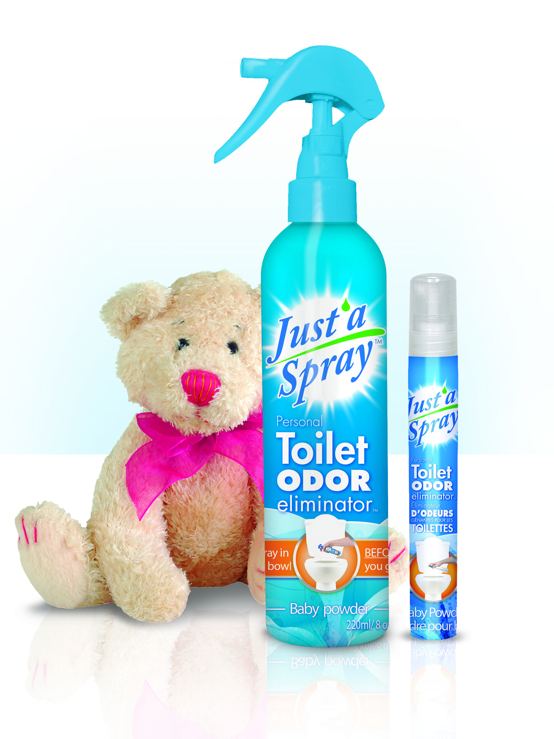 Oz Travel Size Baby Powder The Personal Toilet Odor - Bathroom odor eliminator spray