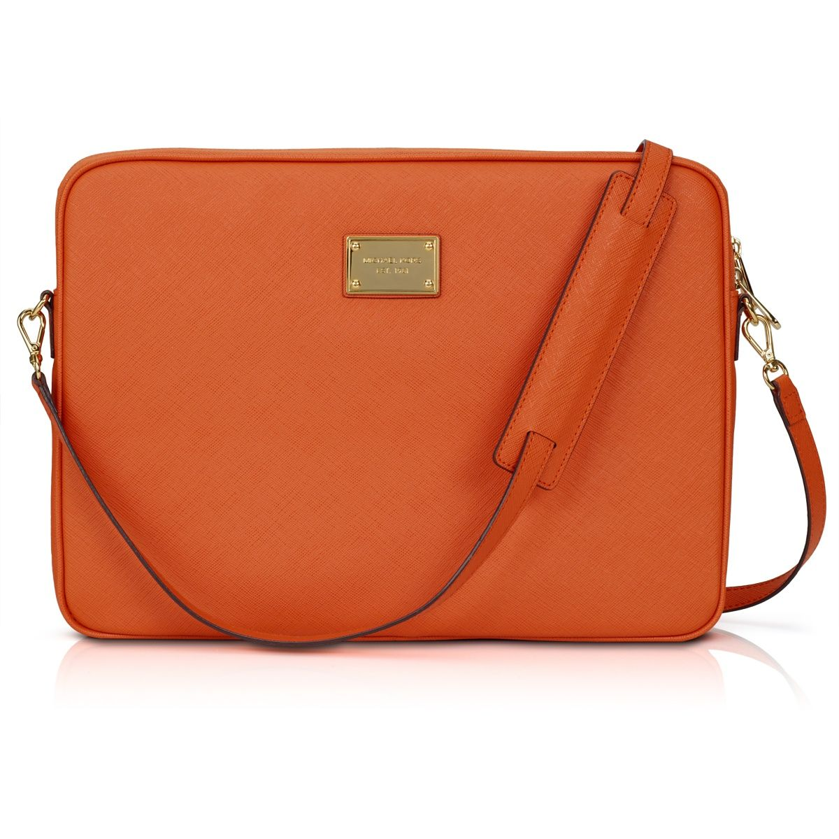 1564cc37a395 Michael Kors Saffiano tangerine Mac laptop case. Well I couldn't justify  the little Jet Set handbag, but this is clearly a practical requirement.