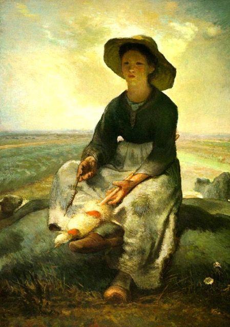 Jean Francois Millet La Petite Bergere Tableau De Grands Peintres Et Peinture De Millet Ecole De Barbizon Peintre Les Arts