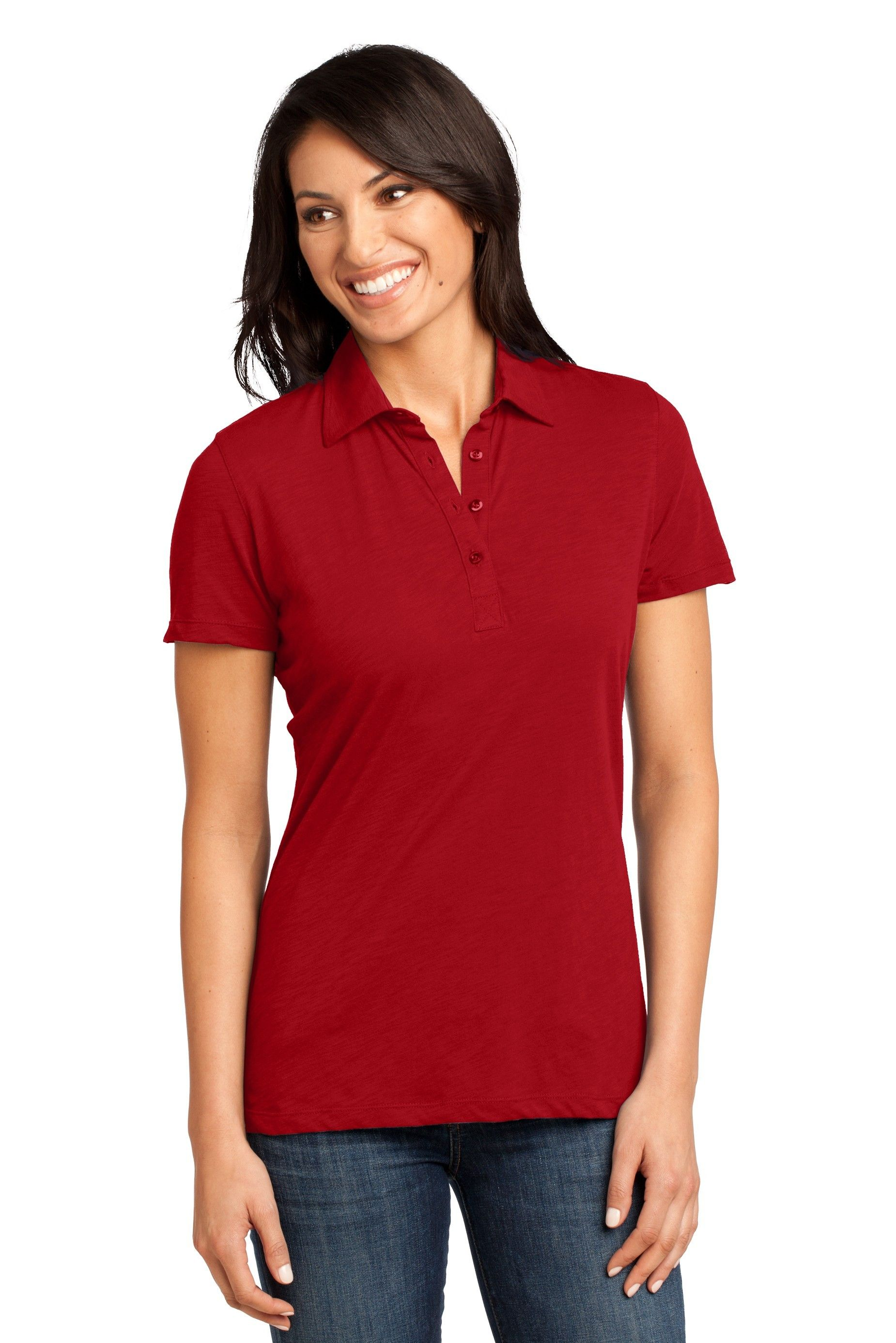 District Made Womens Plus Size Golf Polo Golftennisfitness