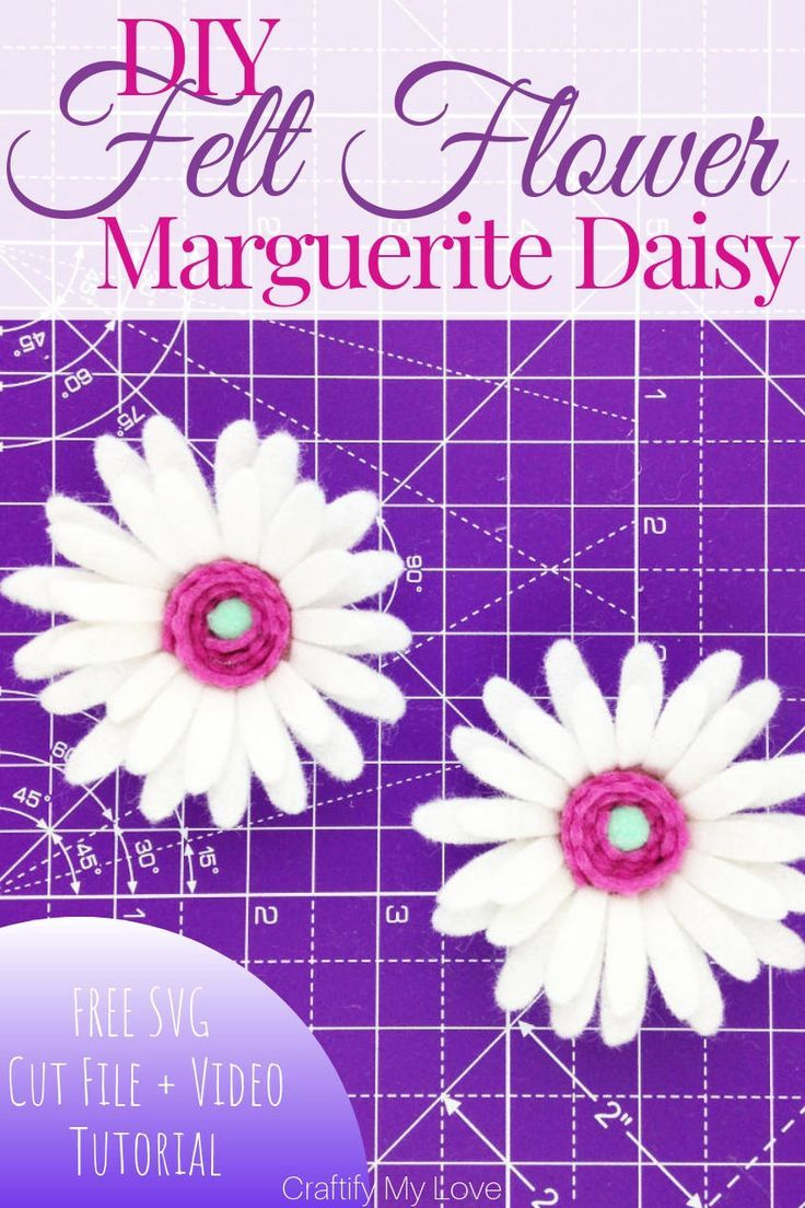 DIY Felt Flower: Marguerite Daisy – 2 of 5