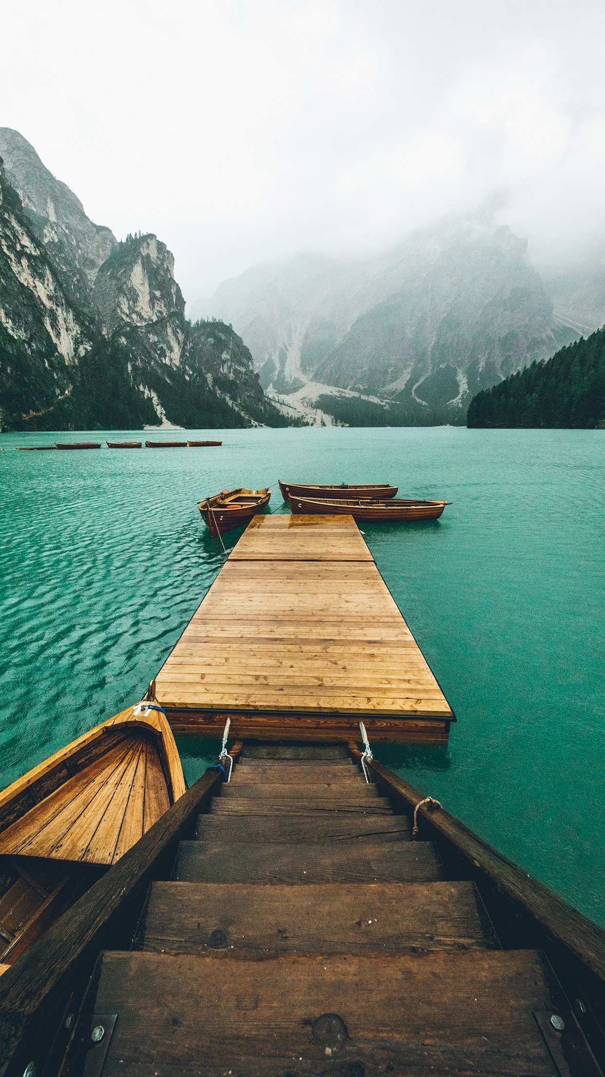 Pier Boats Nature Lake Iphone Wallpaper In 2019 Nature