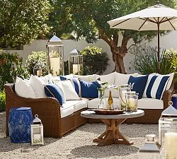 Charming Outdoor Sofas, Outdoor Sectionals U0026 Outdoor Couches | Pottery Barn