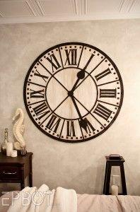 Extra Large Wall Clocks Classic Jam Dinding Dinding Seni