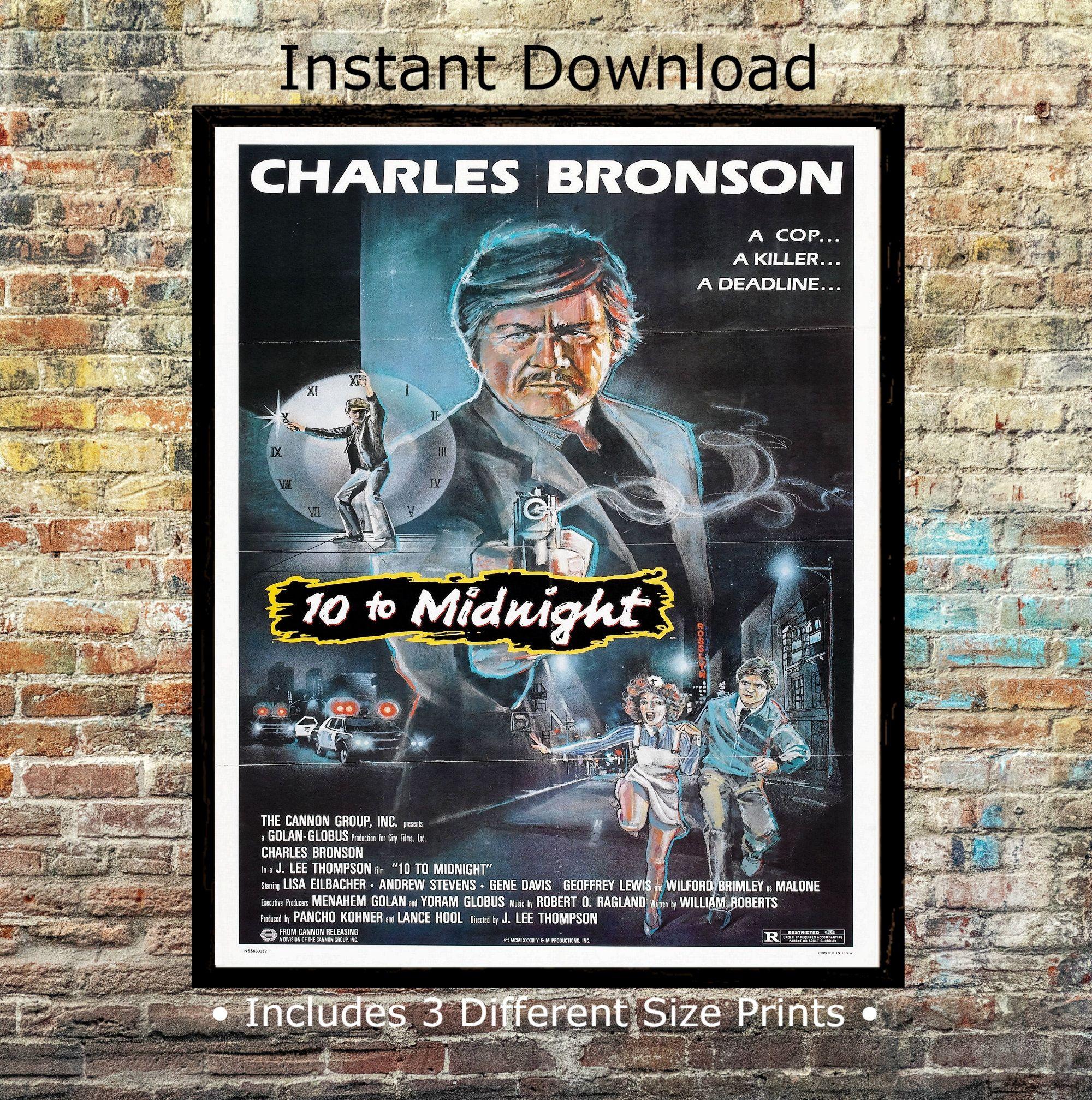 10 To Midnight Charles Bronson 1983 Digital Movie Poster
