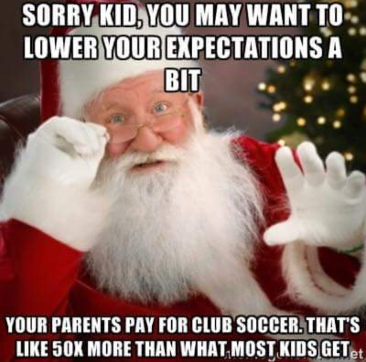 How much are you spending on youth soccer?? Rec wasn't terrible. The season was a little over $150. The jersey was reversible and if you bought it big enough it could last maybe two seasons. Then discount stores for cleats and shin guards. Competitive on the other hand is a hot mess of a financial commitment. The season itself is around $600 and that is just for one... #expensive #fees #gear
