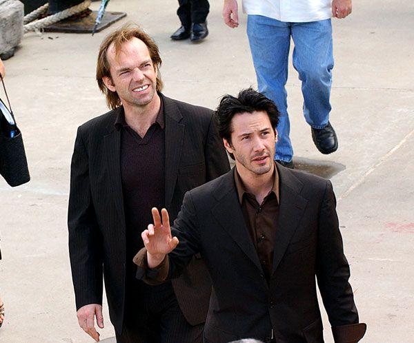 Photo of Keanu Reeves  & his friend Hugo Weaving
