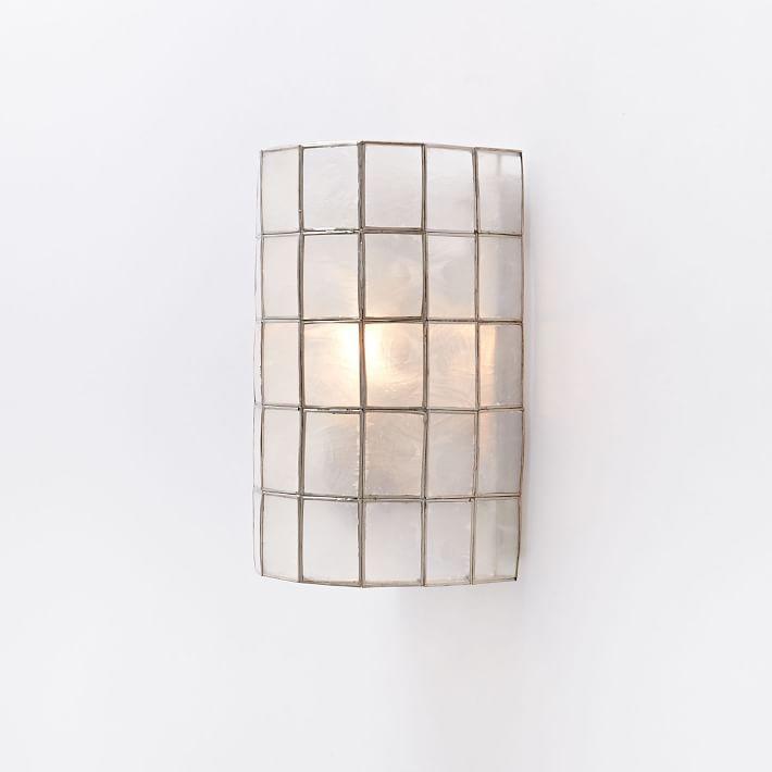 Capiz Tiered Sconce   west elm   Living Room Lighting ...