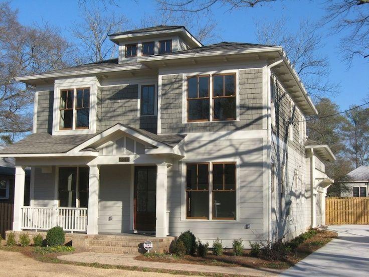 American Foursquare Siding Google Search Four Square Homes Grey Siding Small House