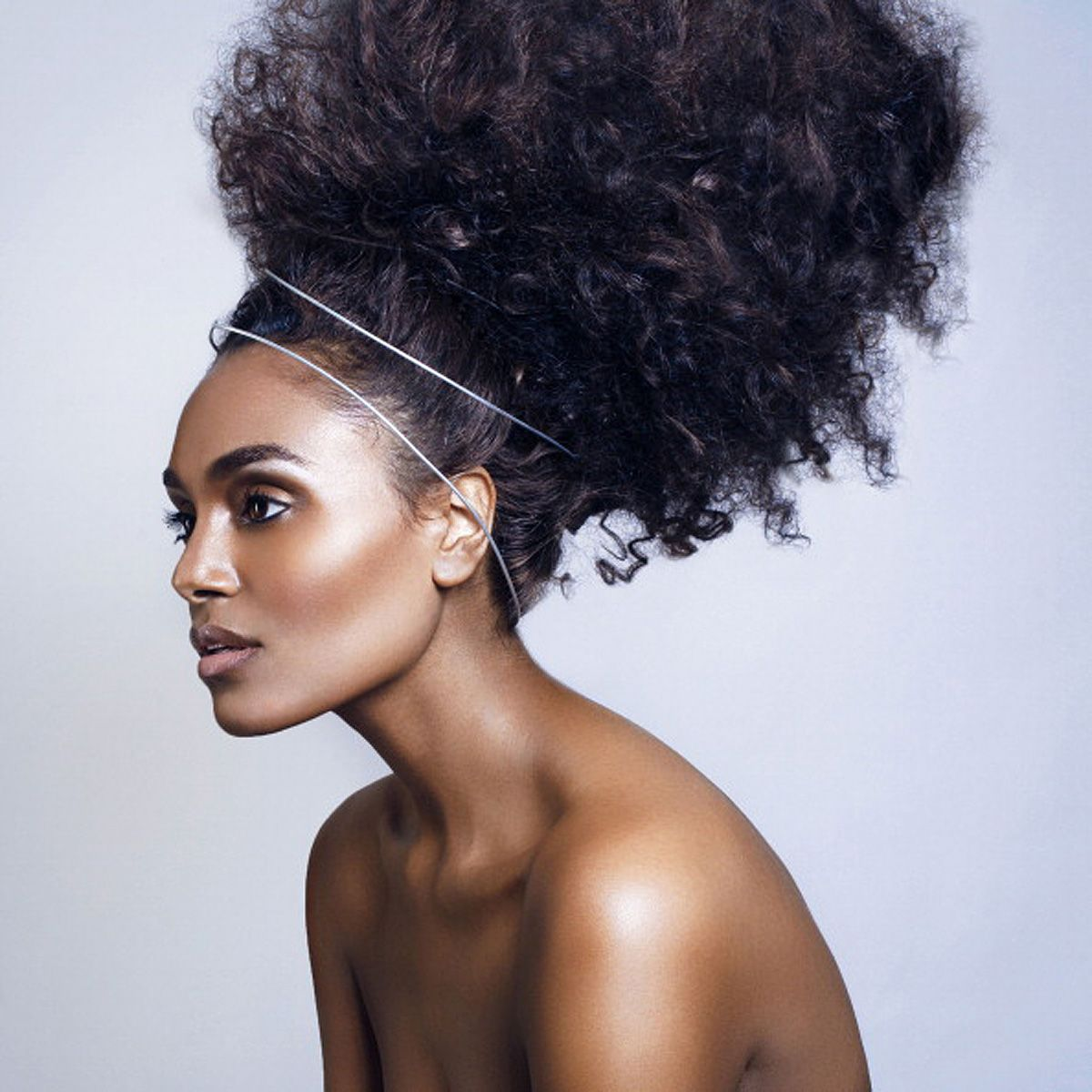 black female in creative hair art