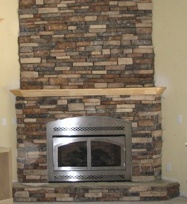 decoration inspiring faux stone fireplace veneers with unfinished ...