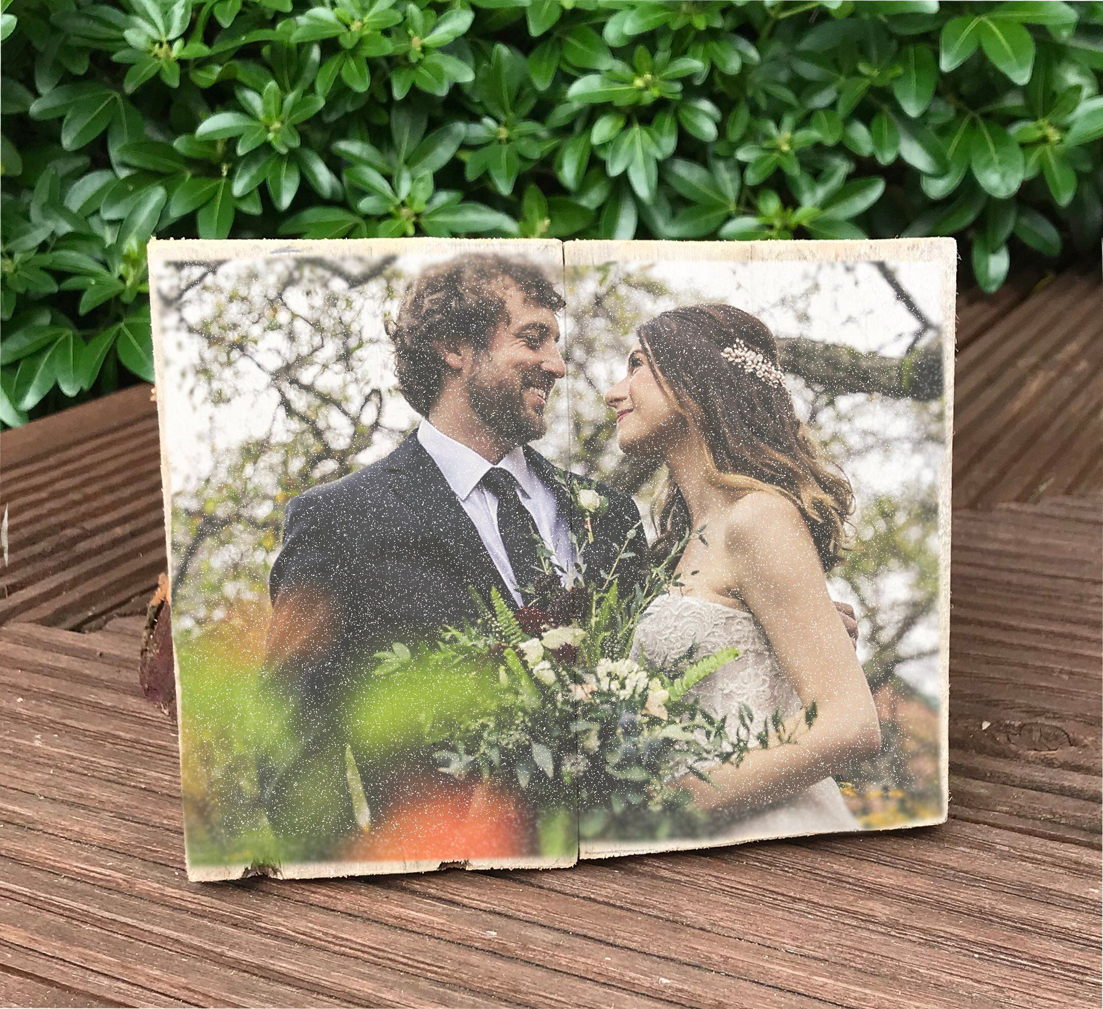 5th Wedding Anniversary Wooden Plaque Rustic Gift Gift