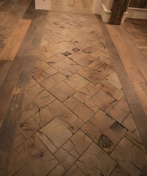 Save The Ends Of Your Timber To Create Gorgeous End Grain Floors End Grain Flooring Flooring Wood Block Flooring
