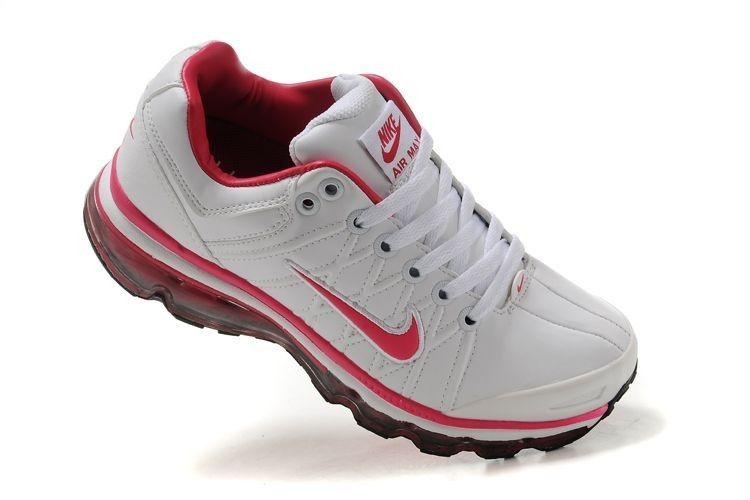 Authentic Nike Air Max 2009 Premium Womens Trainers Sneaker Red/White/Black Leather Online Outlet