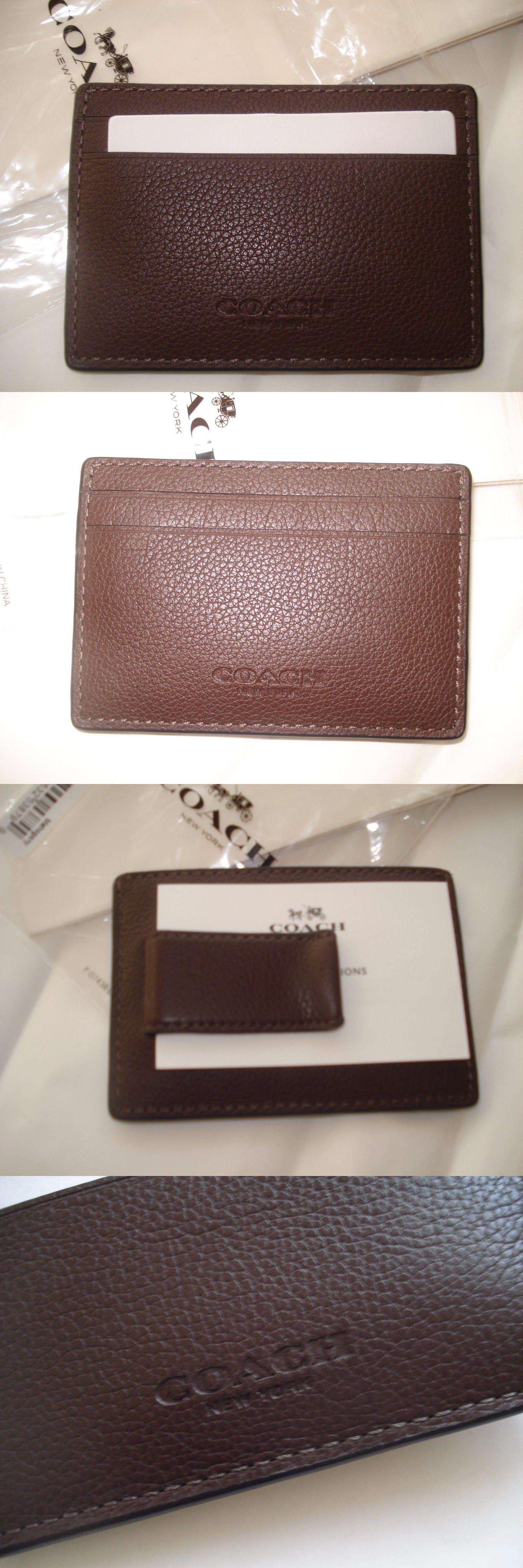51177790 Wallets 2996: Nwt Coach Men S Leather Slim Money Clip Credit Card ...