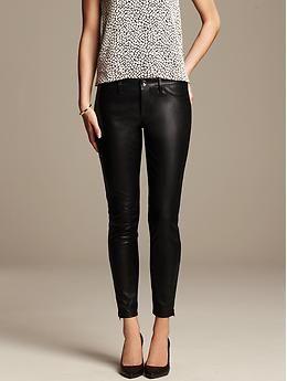 0c18e78774968b Sloan-Fit Faux-Leather Ankle Pant | Banana Republic | Fashion | Faux ...