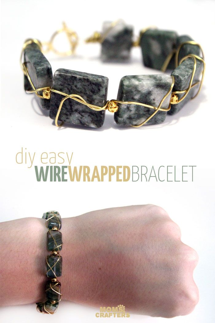 Make a magnificent gemstone wire wrapped bracelet | Diy holiday ...