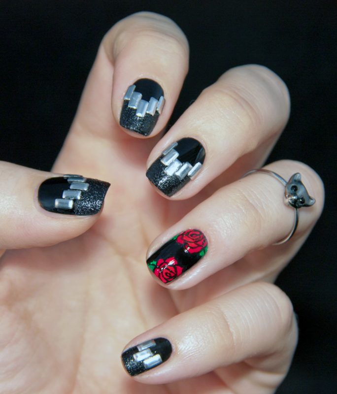 Nailpolis Museum of Nail Art | Rock\'n\'Roll nails by Chasing Shadows ...