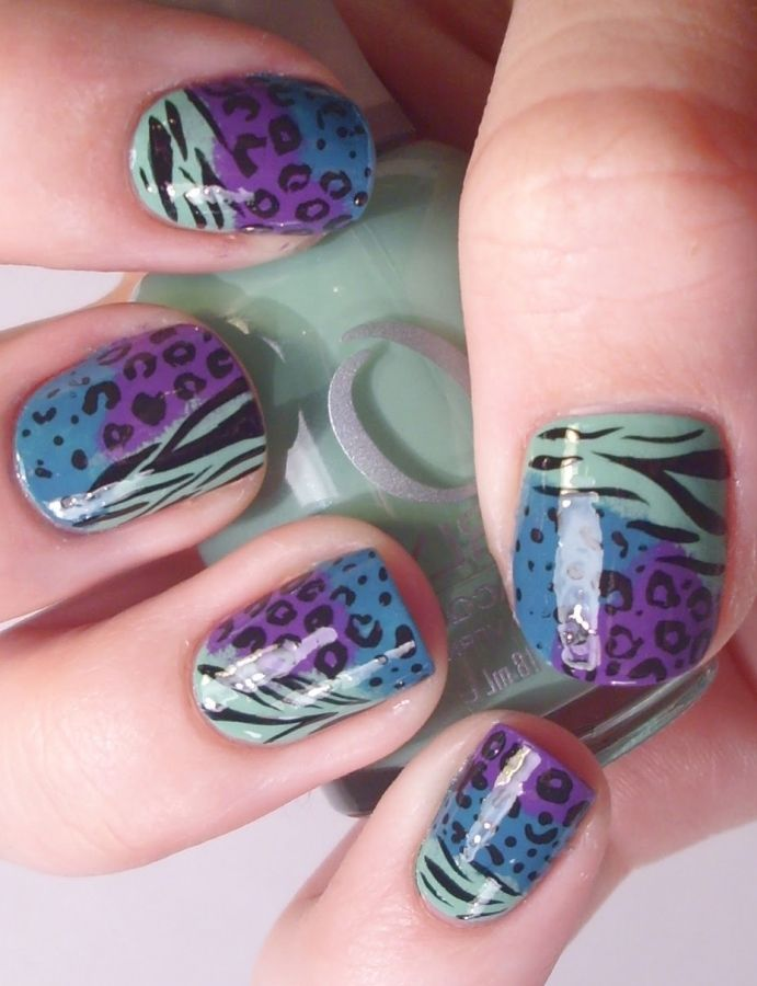 nail art ideas stylish animal print nail art designs trends of 2012 - Nail Design Ideas 2012
