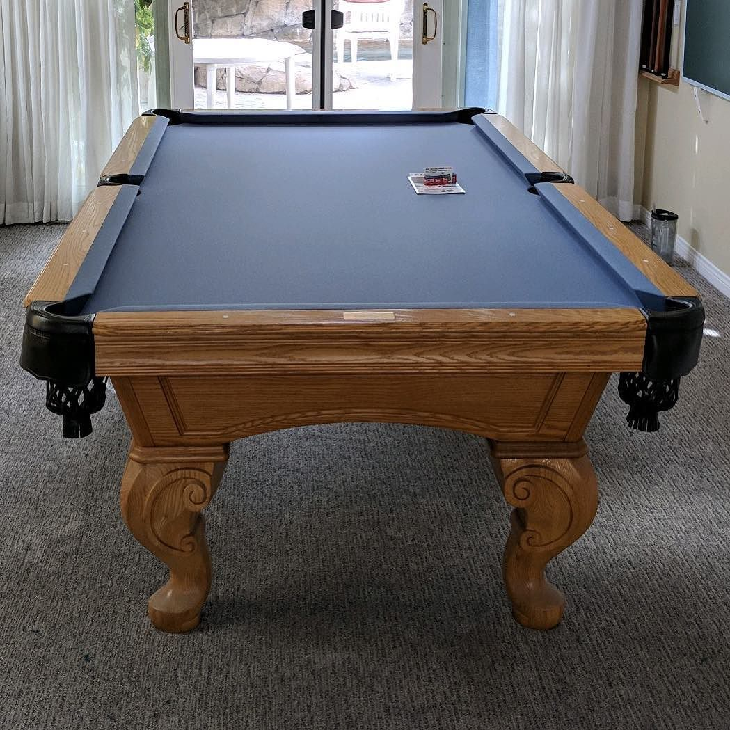 How To Install A Pool Table Slate Installation Home Billiards >> Finished Installing This 8 Foot Olhausen 3 Piece Slate Pool Table In