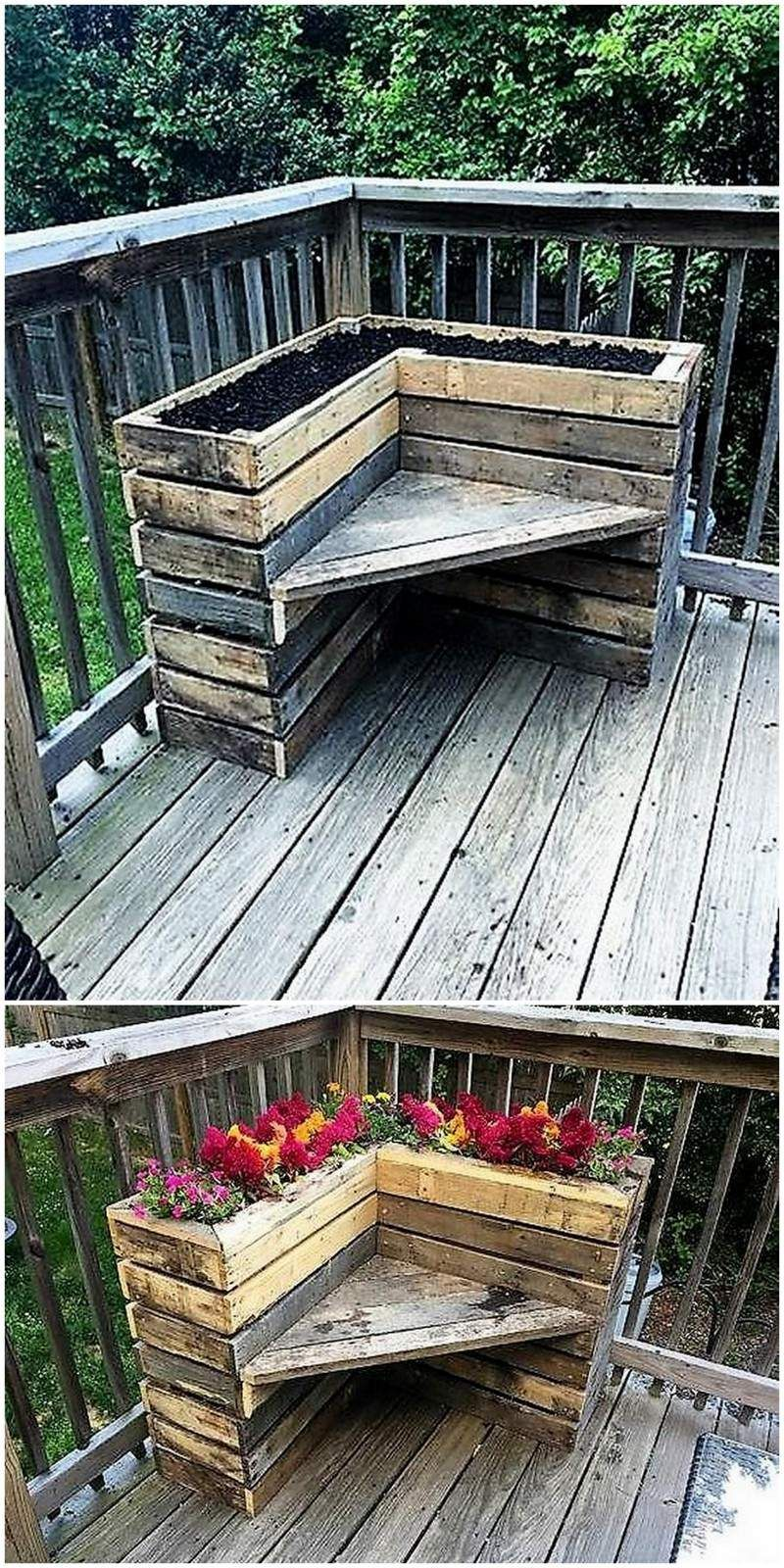Pallet Wood Planter Idea Plants & Gardening In 2019